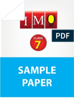 Class 7 Imo 4 Years Sample Paper