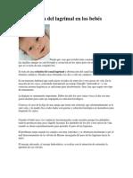 Obstrucción del lagrimal en los bebés