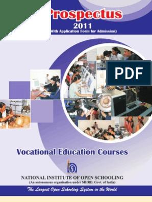 Vocational Prospectus 2011 | Vocational Education