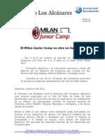 milan junior camp - boletn de prensa