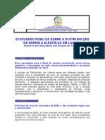 UIR_DISCUSSÃO PÚBLICA SOBRE A DISTRIBUIÇÃO DE ENERGIA ELÉCTRICA EM LUANDA