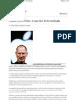 2010 10 06 Valor Economico Steve Jobs