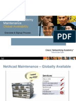 1197 Networking Academy Maintenance Overview Signup Process