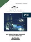 Sistema de Relleno Hidraulico