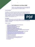 Introduction to Enterprise Java Bean
