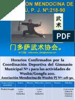 Asociación Mendocina de Wushu en Gimnasio Municipal Nº-1