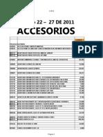 Lista de Accesorios Tecnisumer Agosto 20112
