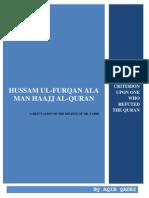 Hussam al-Furqan Ala Mann Haajj Al-Qur'an