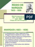PERÍODO DE ANARQUÍA (1823 - 1830) HISTORIA DE CHILE