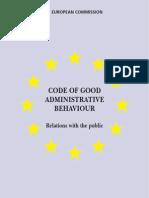 Code_en on Good Admnistrative Behaviour EC