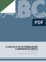 ABC Ley de Formalizacion y Generacion de Empleo