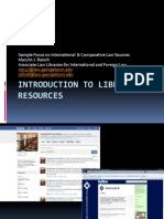 Introduction to Library Resources