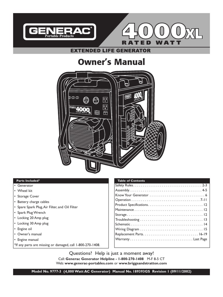 4000xl Generator Battery Electricity Ac Power Plugs And Sockets 65795gs Rectifier Wiring Diagram