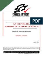Cultura Del Ahorro en Mexico