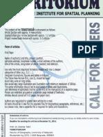 Territorium no.10 – Call for Papers