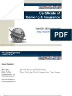 Wealth Management May2011 School of Business Administration HEG-FER Fribourg Marc Lussy