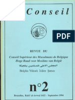 Le Conseil, n° 2. Revue du Conseil Supérieur des Musulmans de Belgique