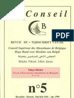 Yahya Michot, Un an d'Exécutif des Musulmans de Belgique