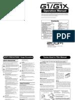 G1 Guitar Pedal Manual