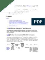 The Expanded Program on Immunization
