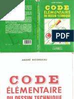 code élémentair du dessin technique