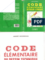 code élémentair du dessin technique