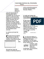 Concepto y Funciones Del Programa Excel