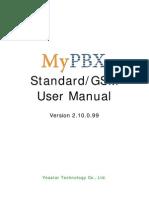 MyPBX Standard GSM User Manual En