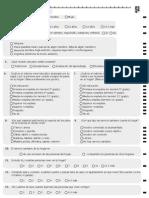 Cuestionario de información sociodemográfica de 5 grado
