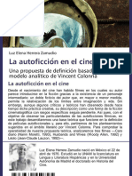 La autoficción en el cine Una propuesta de definición basada en el modelo analítico de Vincent Colonna
