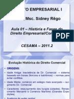 Aula 1 - Empresarial I - Prof Sidney Rêgo