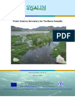 W-12 Water Sources Inventory for Northern Somalia