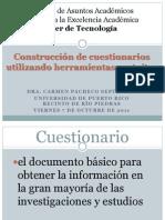 Construcción de cuestionarios utilizando herramientas gratuitas