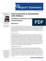 Food Security Families/ Children ReportSummary 2009