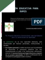 Gestión educativa Eduardo Santos 2011