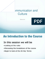 As Communication Introduction