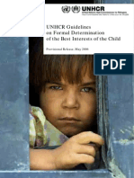 Best Interest of Child - UNHCR Guidelines