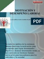 MOTIVACIÓN Y DESEMPEÑO LABORAL