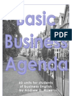 Basic Business Agenda