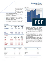 Derivatives Report 7th October 2011