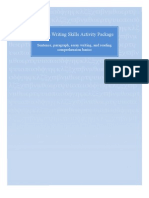 Pages From English Writing Skills Activity Package