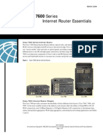 Cisco 7600 Series Internet Router Essentials
