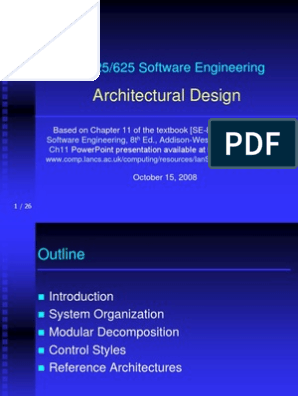 Architectural Design Modular Programming System
