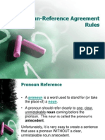 Pronoun-Reference Agreement Rules