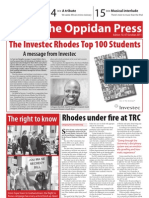 The Oppidan Press Edition 10 2011 (The Investec Rhodes Top 100 Special Edition)