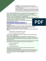 Microsoft Word - Cost Benefit Analysis
