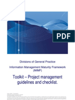 100 - IMMF Toolkit - Project Management Guidelines and Checklist1[1]