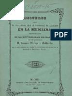 DISCURSO SOBRE LA INFLUENCIA DE LA FILOSOFIA EN LA MEDICINA- AÑO 1850