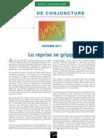 La note de conjoncture de l'Insee  - Octobre2011