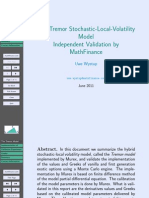Tremor Model Validation by Wystup